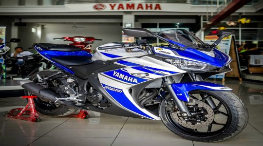 Yamaha R25 2015  – Pictures of Production Model Surface !