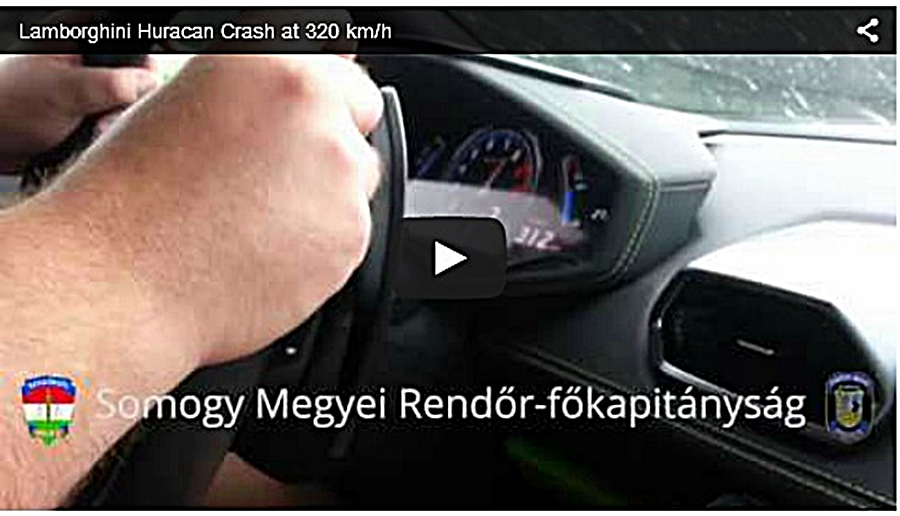 lamborghini huracan 320kmph video