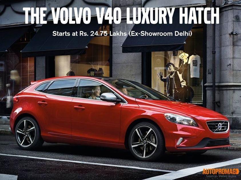 Volvo V40 hatch price India