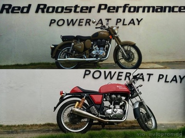 red rooster exhaust desert storm continental gt