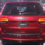 Jeep grand cherokee SRT red rear