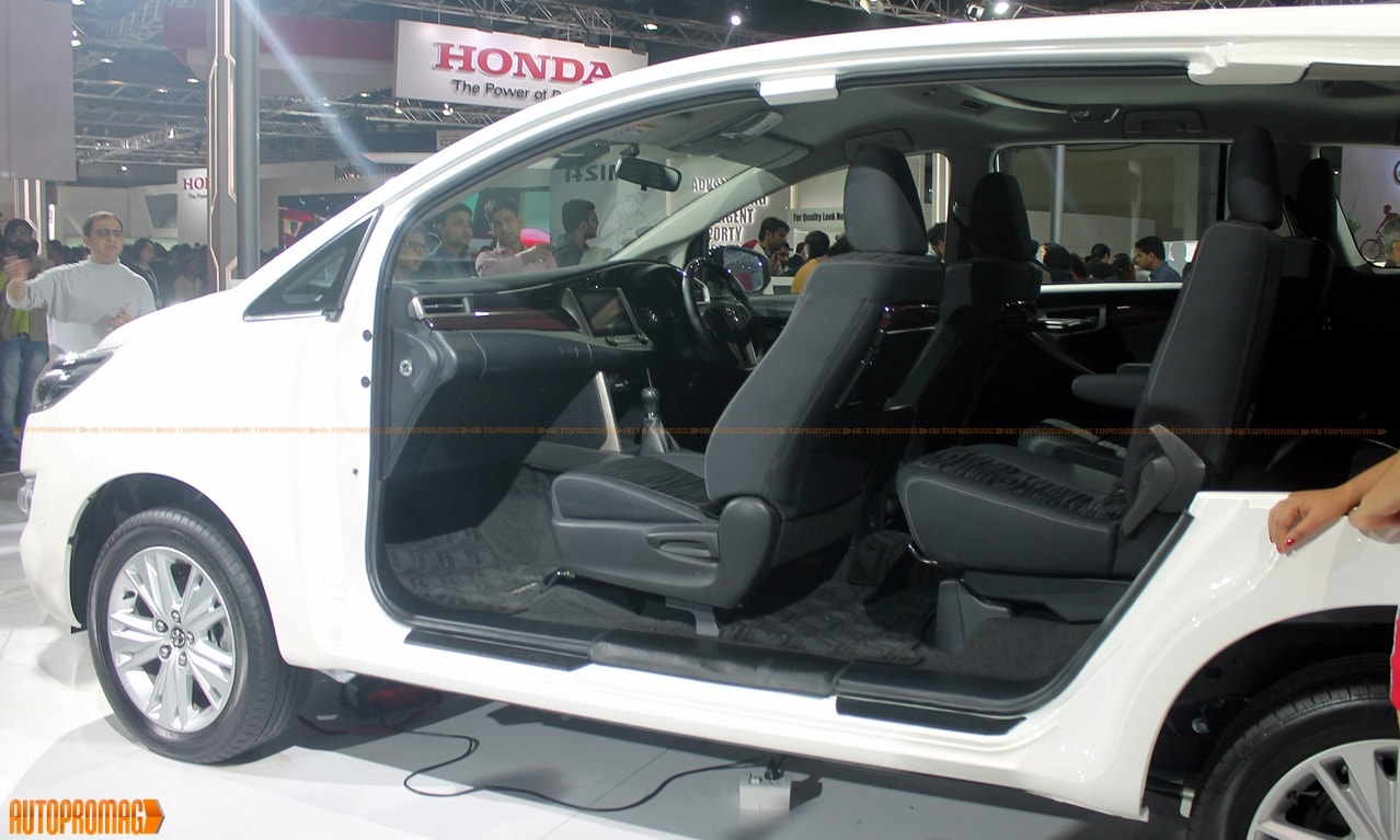 Toyota Innova Crysta interior seats