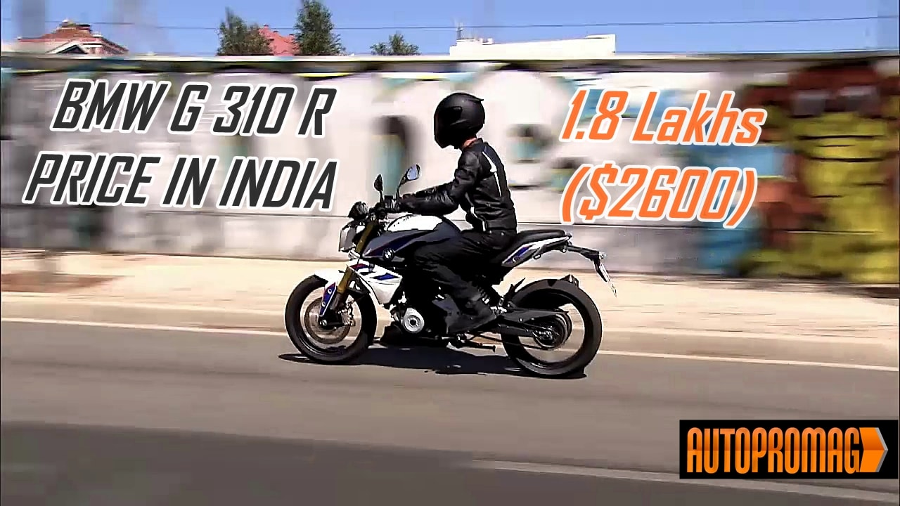 BMW G310R 1.8 lakh price in India