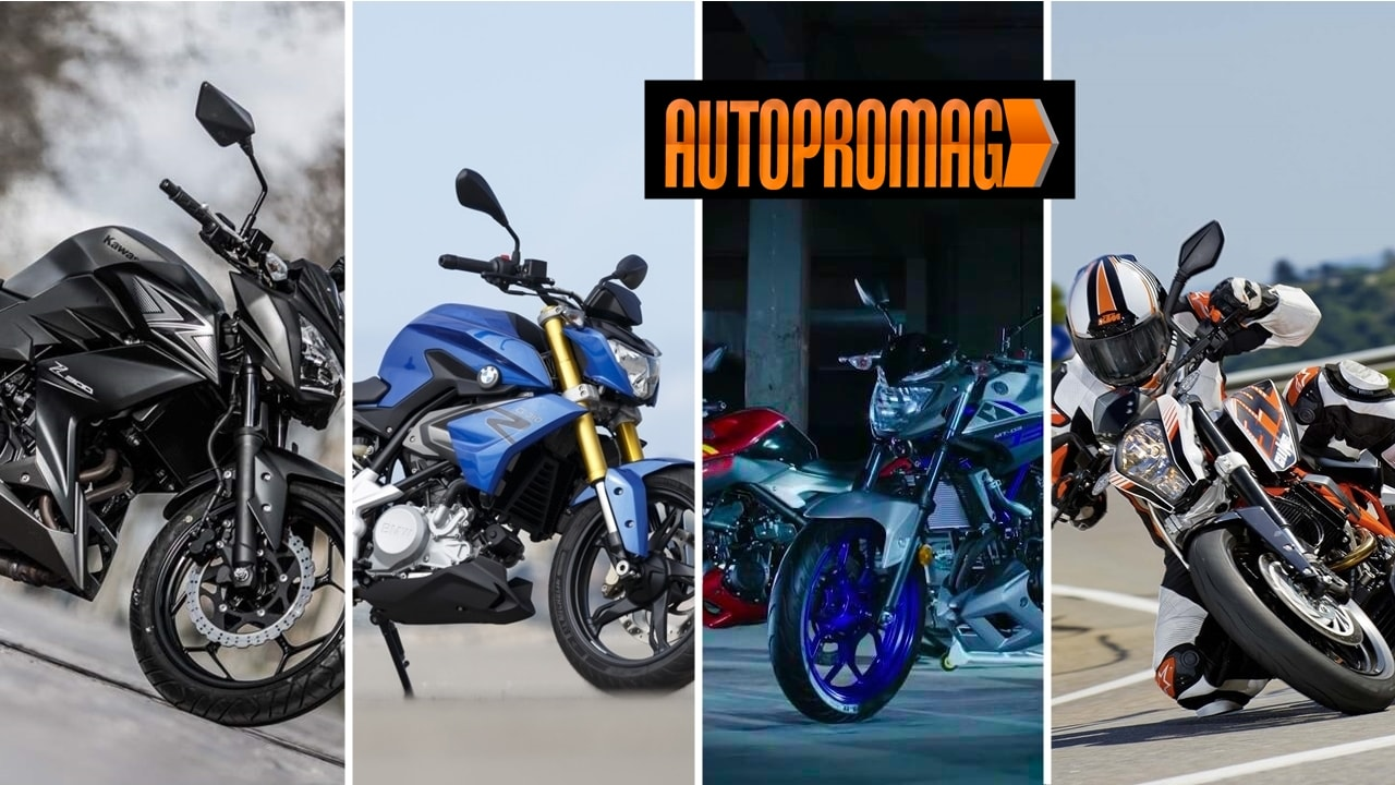 BMW G310R vs KTM Duke 390 vs Yamaha MT-03 vs Kawasaki Z300