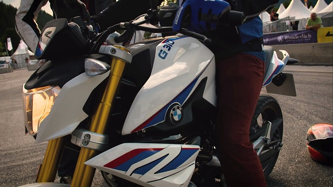 BMW G310R seat and ride