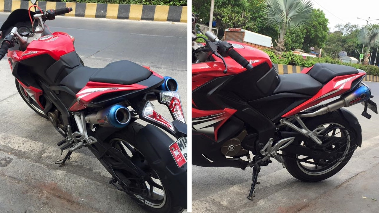 Bajaj Pulsar RS 200 Mark dual exhaust