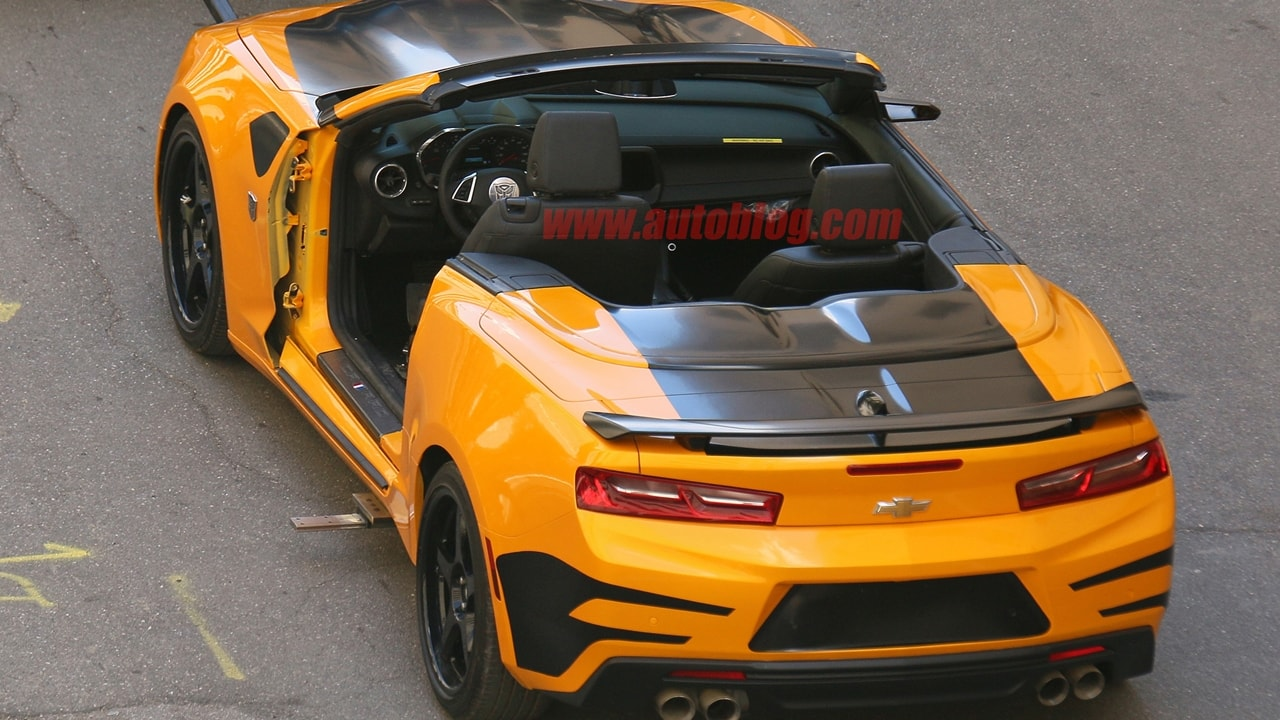 Camaro bumblebee convertible rear