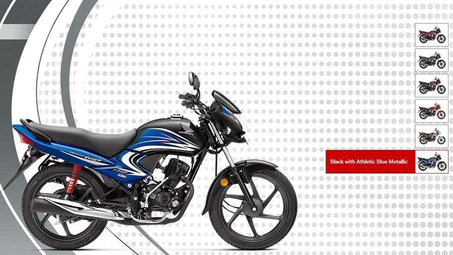 Honda Dream Yuga Black with Athletic Blue Metallic