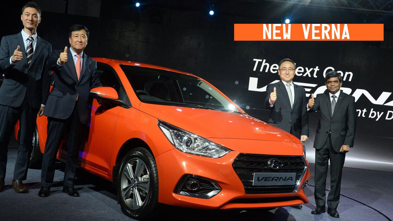 Hyundai Verna 2017 India red