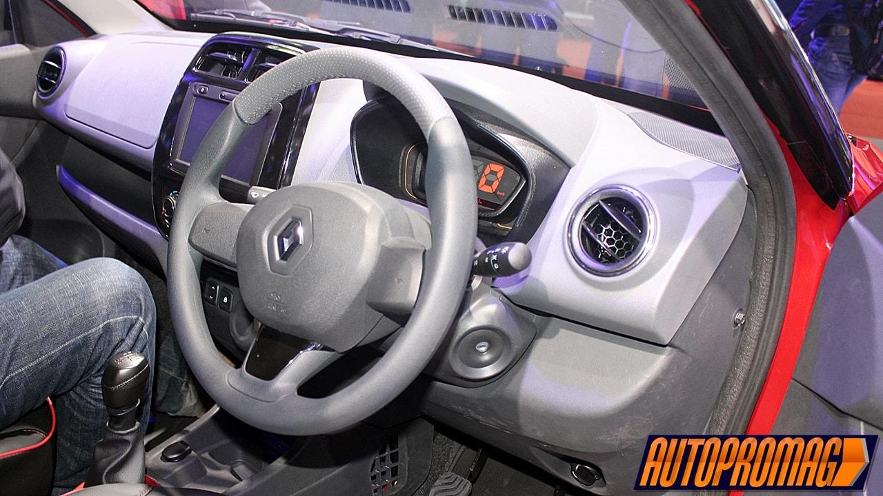 Renault Kwid 1.0 interior AMT