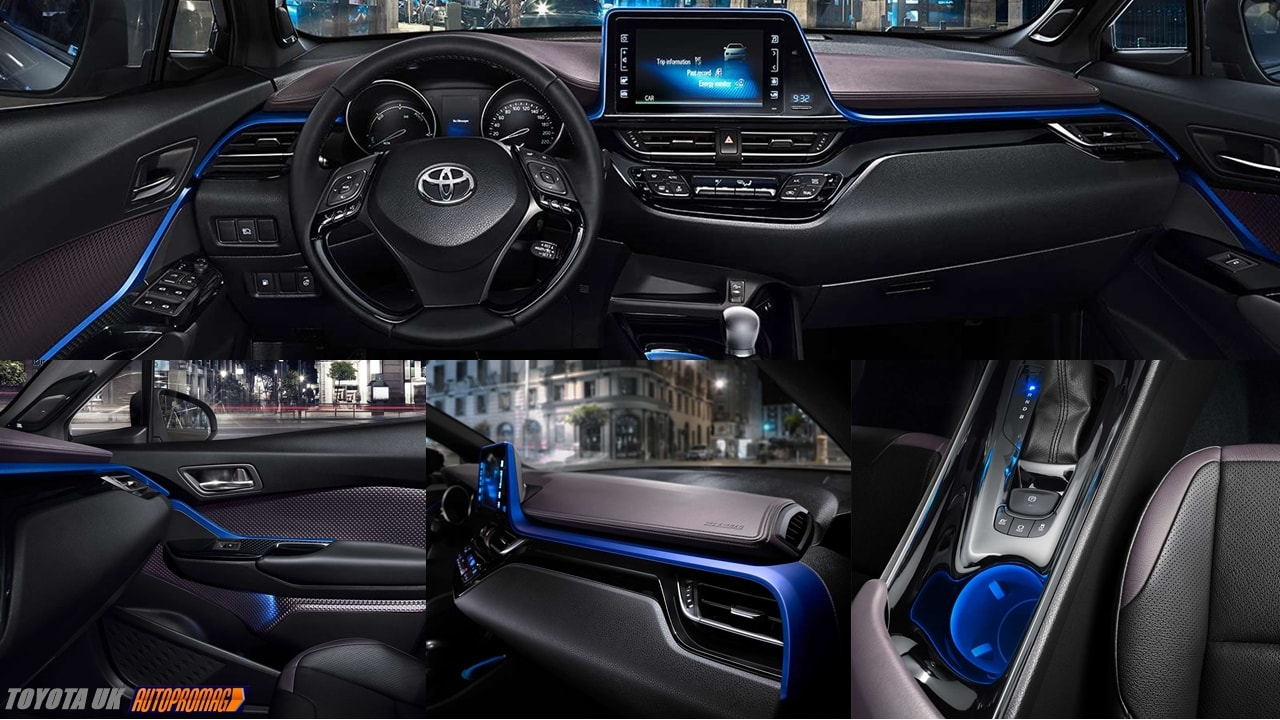 Toyta CHR blue interior