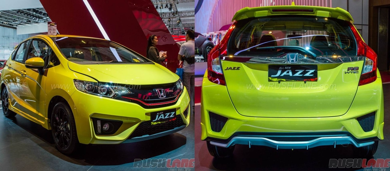 Yellow Honda Jazz RS CVT