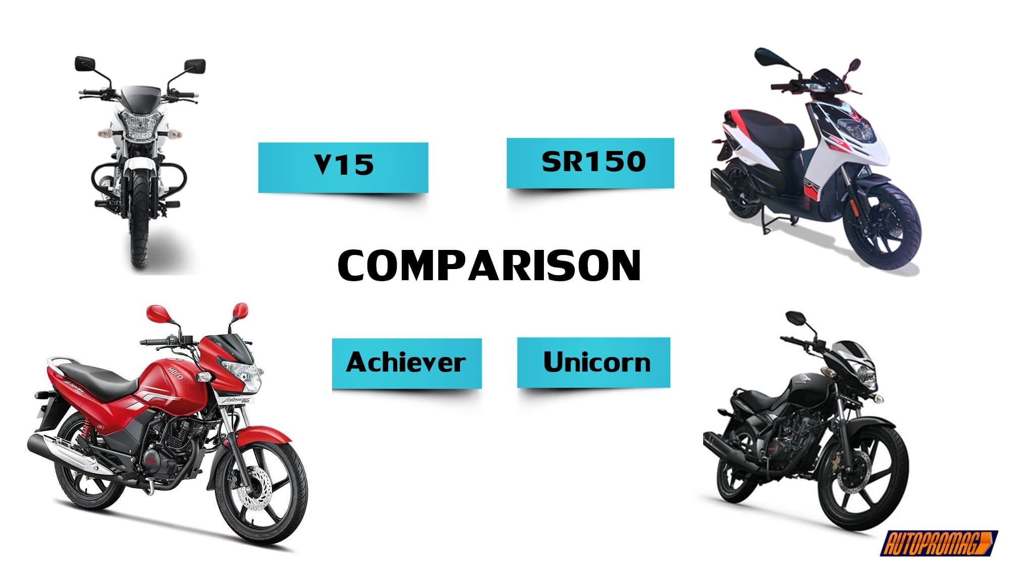 Hero achiever vs Bajaj V15