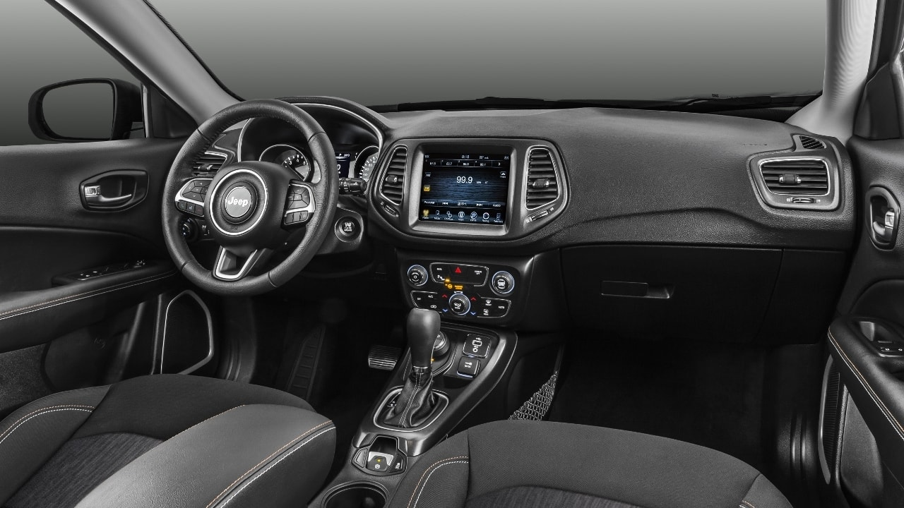 2017 jeep compass launched price variants interior autopromag india. Black Bedroom Furniture Sets. Home Design Ideas