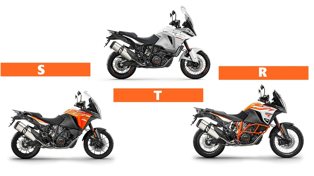 S, R and T variants 1290 Adventure