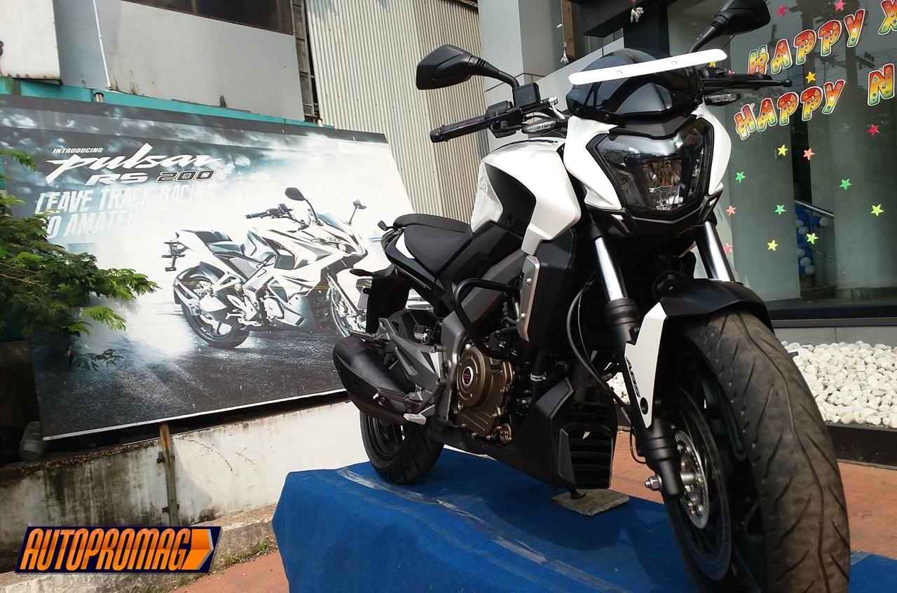 Bajaj Dominar 400 white front