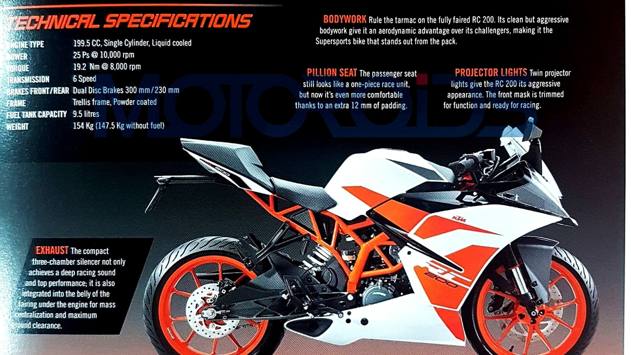 2017 ktm rc 200 rc 390 what s new price specs autopromag. Black Bedroom Furniture Sets. Home Design Ideas