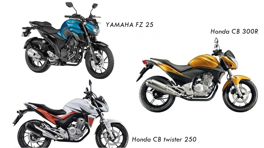 Honda CB Twister 250 vs Competition