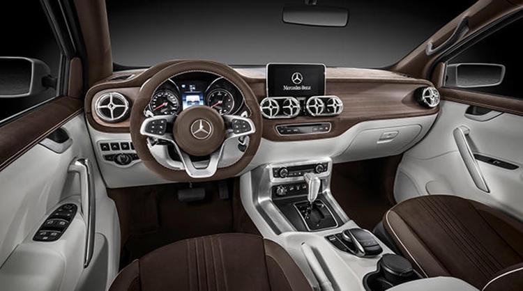 Mercedes X Class white interior