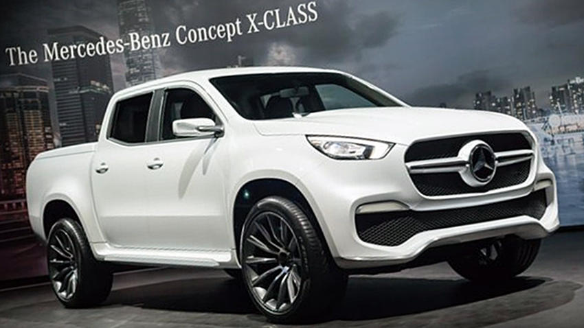 mercedes benz x class pickup revealed price release autopromag. Black Bedroom Furniture Sets. Home Design Ideas
