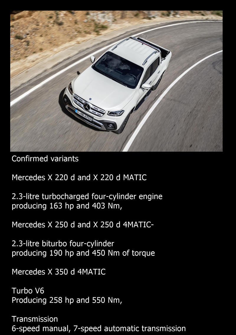 Mercedes X class engines