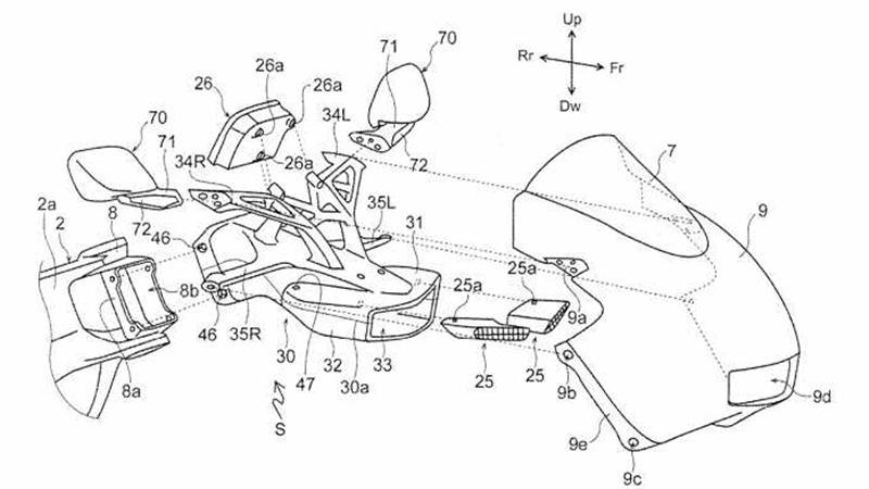 Honda CBR600RR patent