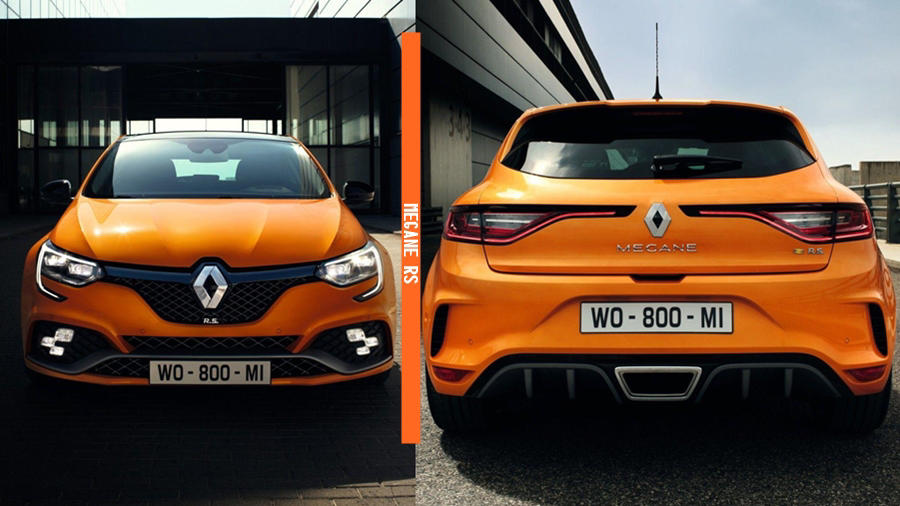 2018 Megane RS front and rear