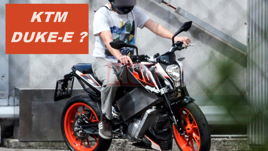 KTM Duke 390 Electric spotted. What does this mean?