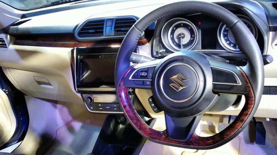 Dzire facelift interior