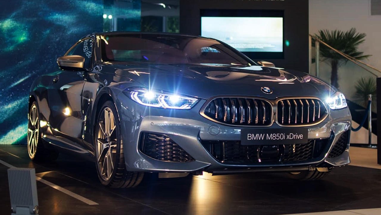 New BMW 8 Series grey