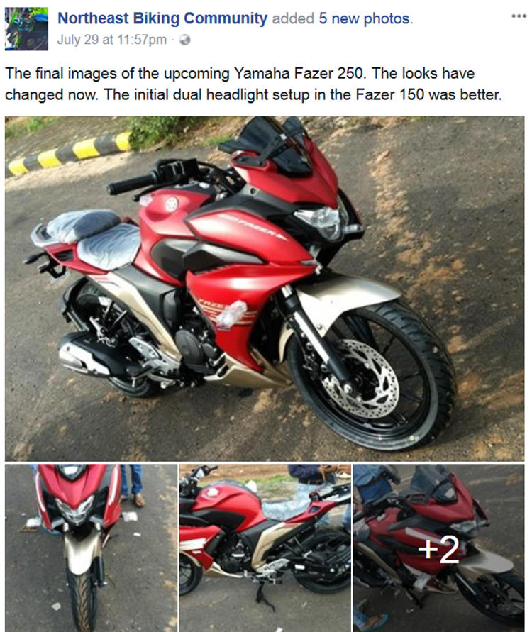 New Yamaha Fazer 250