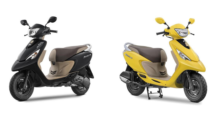TVS Scooty Zest Matte series launched. Gets new features