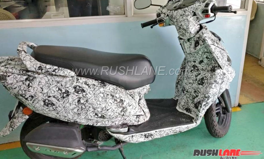 TVS Jupiter 125 with Fuel Injection and Front Disc brake spied