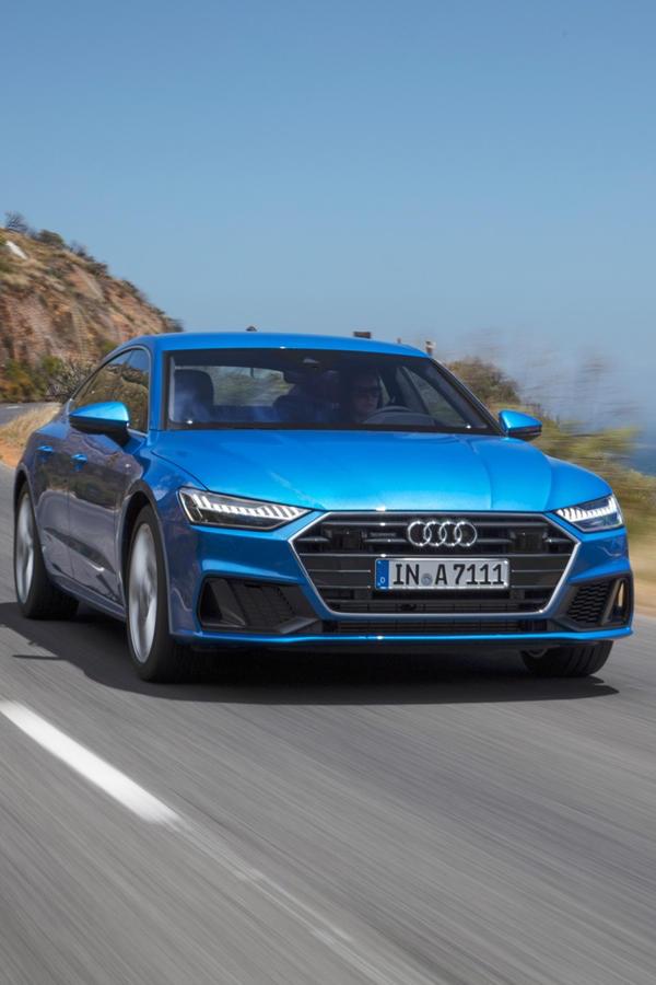 2019 Audi A7 blue ride