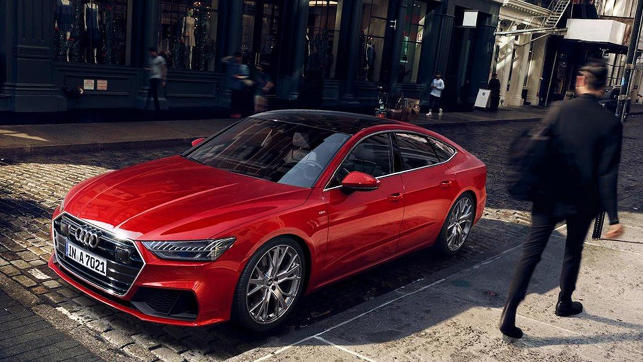 2019 Audi A7 red color