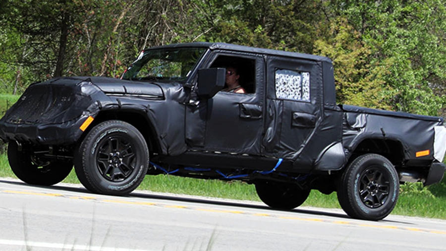 Jeep Wrangler Pickup Truck spotted