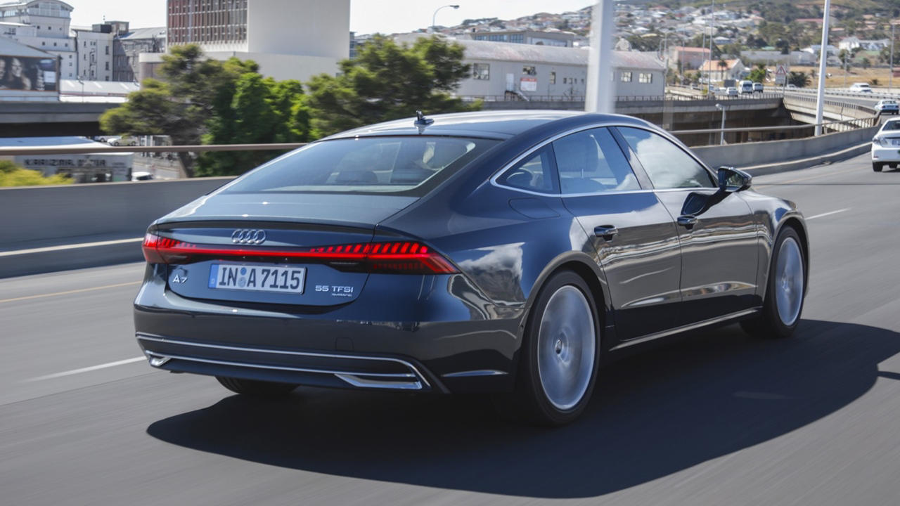 New Audi A7 rear tail