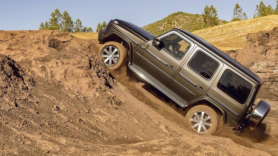 New Mercedes G Class offroad desert sand