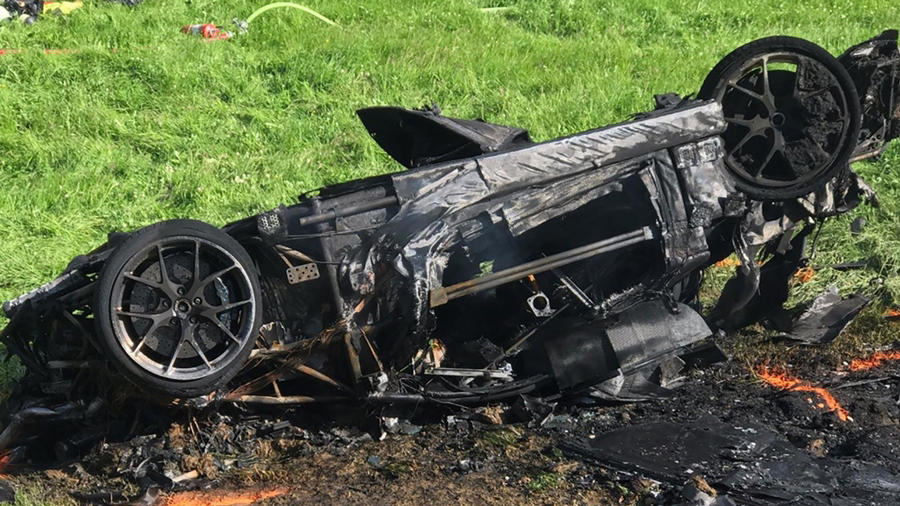 Hammond crash electric supercar
