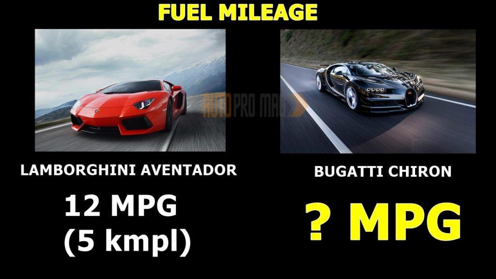 Bugatti Chiron mileage