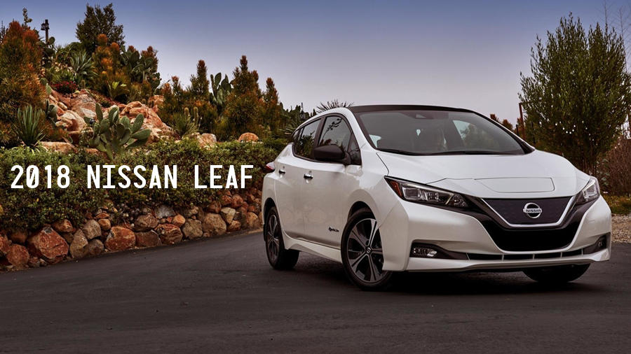 2018 Nissan Leaf white