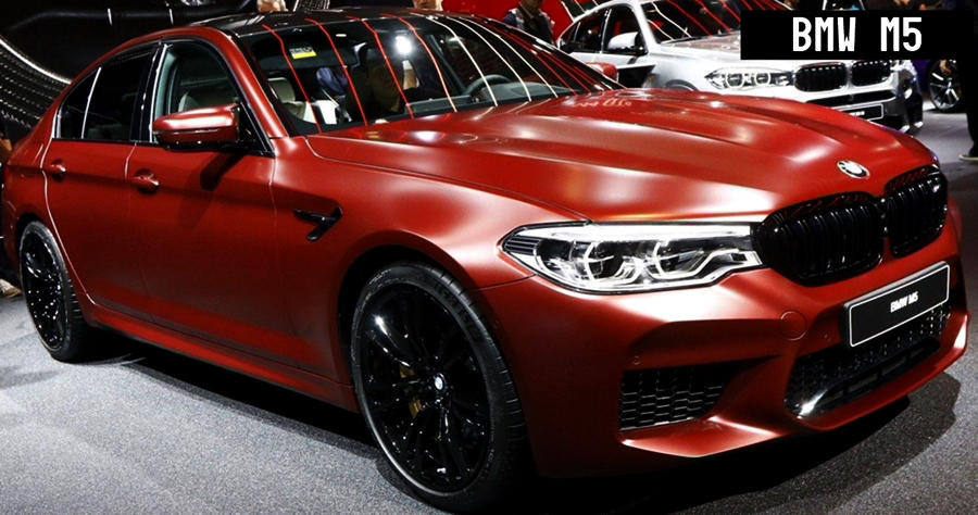New BMW M5 2018 red first edition