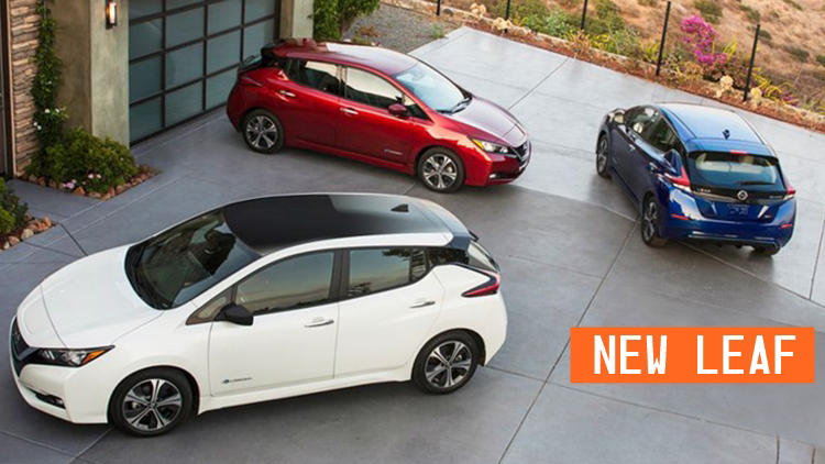 New Nissan Leaf colours