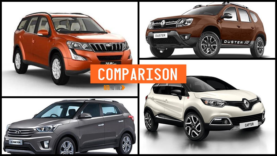 renault captur vs creta duster xuv500 comparison autopromag. Black Bedroom Furniture Sets. Home Design Ideas