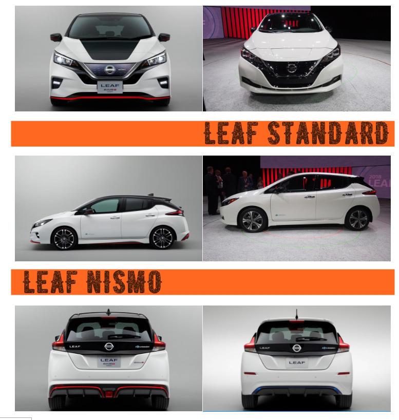 2019 Nissan Leaf Nismo vs standard
