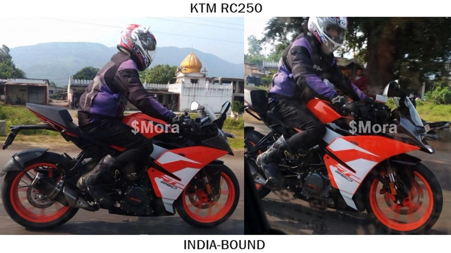 KTM RC250 India spied