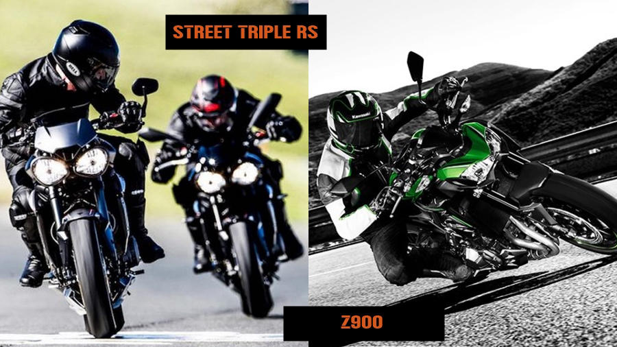 Triumph Street Triple RS vs Kawasaki Z900