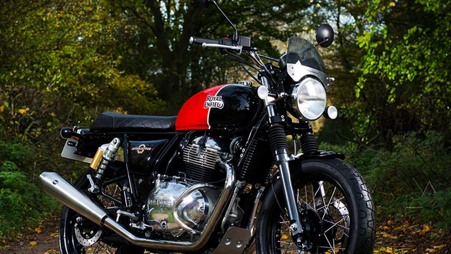 Royal Enfield Interceptor 650 black red