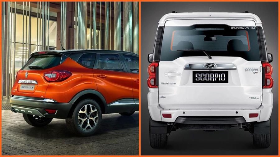 Scorpio vs Captur rear