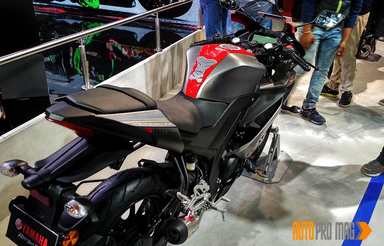 Yamaha R15 V3 grey rear
